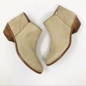 Sam Edel,man Petty Suede Shimmer Gold Bootie 7.5